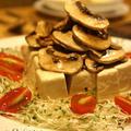 旨味たっぷり!塩マッシュルームの絹豆腐乗せ♫