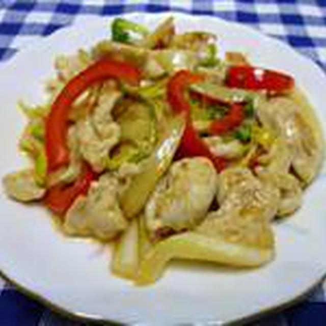鶏肉とセロリのピリ辛甘酢炒め☆