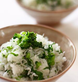 菜の花とじゃこの混ぜご飯