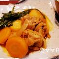鶏肉と春菊の旨辛煮