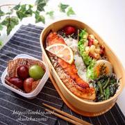 鮭の柚子胡椒焼き弁当【本日のお弁当】*新刊撮影スタート