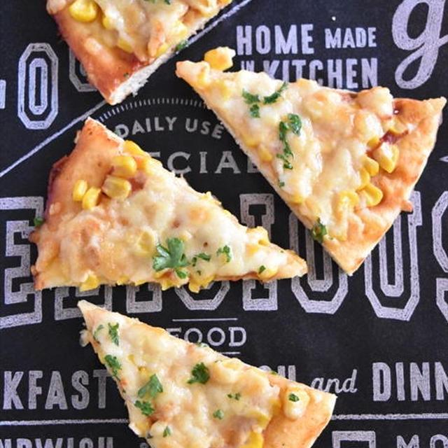 レシピブログでの連載更新しました♪発酵不要!ホットケーキミックスで作る♪コーンたっぷり簡単ピザ