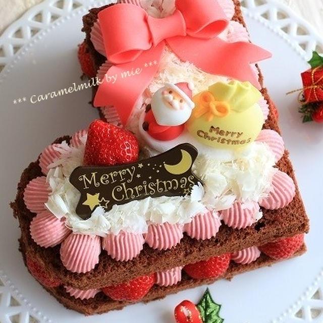 クリスマスケーキ★クリスマスブーツのチョコレートケーキ(記念日のお菓子)