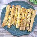 ごぼうの天ぷら、オリーブオイル大さじ3揚げでヘルシー