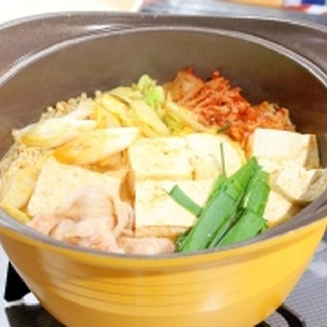 モランボン☆お豆腐たっぷり豚バラのキムチチゲ鍋