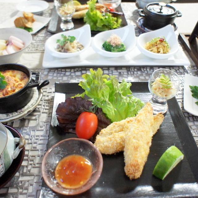 筍とお豆腐のキッシュ 揚げないささみのフライ その他筍料理