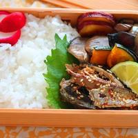晩ごはんの残りで簡単!「秋刀魚の塩焼きのピリ辛ごま和え」のお弁当