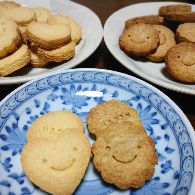 プレーンとシナモンのクッキー