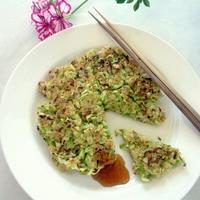 きゃべチャーハンのお好み焼き(レシピブログ)