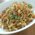 高野豆腐と豚ひき肉のカレー炒め