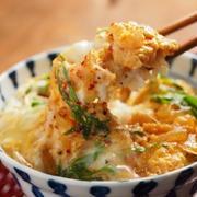 えび卵丼 、 海老のうま煮の余った煮汁で作るレシピ