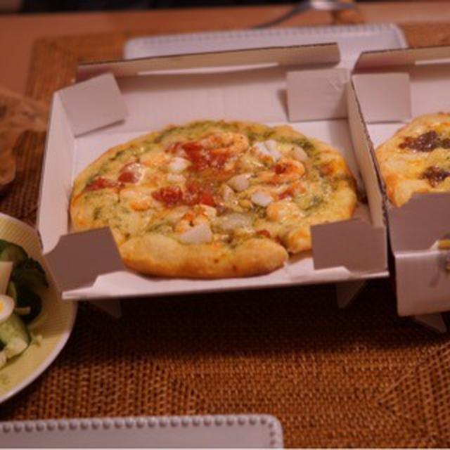 デリバリーピザとニース風サラダ♡先日食べた沖縄そば