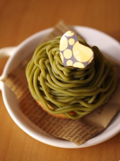 簡単本格モンブランケーキ☆抹茶(生クリームなし・牛乳使用)