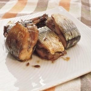 クミン風味の照り焼きサンマ
