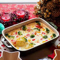 レシピ。持ち寄りパーティーに、ネギと長芋のスフレグラタン