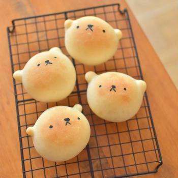 くまパン焼きましたʕ•ᴥ•ʔ