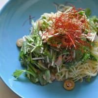 水菜とツナのカペリーニ