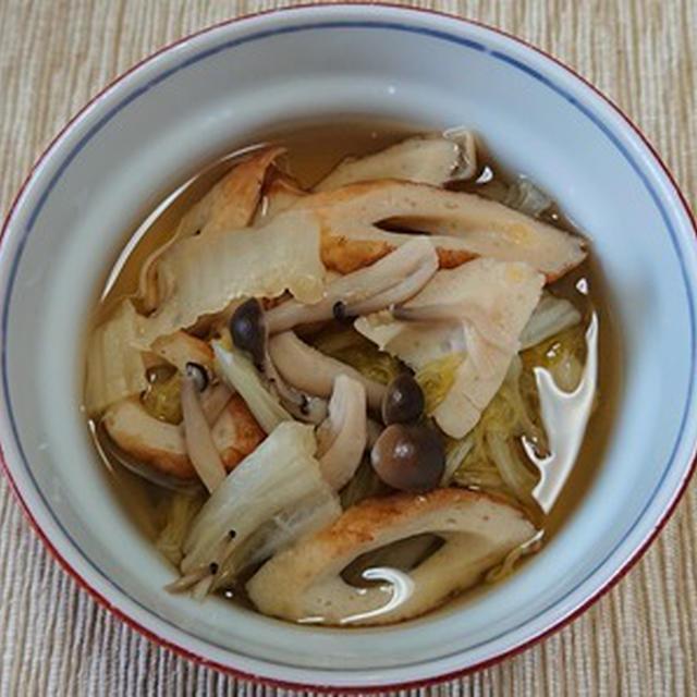 ちくわと白菜のめんつゆ煮
