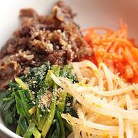 仙台牛すき焼き煮で「ビビンバ丼」