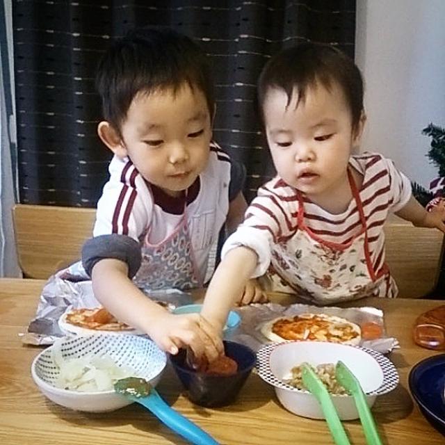【子どもとcooking】ピザとオムライス