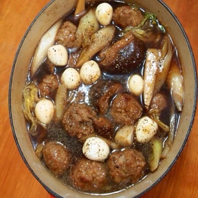 肉だんごと椎茸のウマ煮