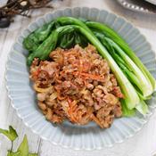 豚コマ肉と野菜の韓国風炒め