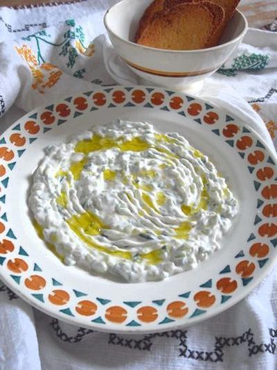 我が家のザジキ(Tzatziki)と中東風サンドイッチ&デヴィッド・ゲッタ