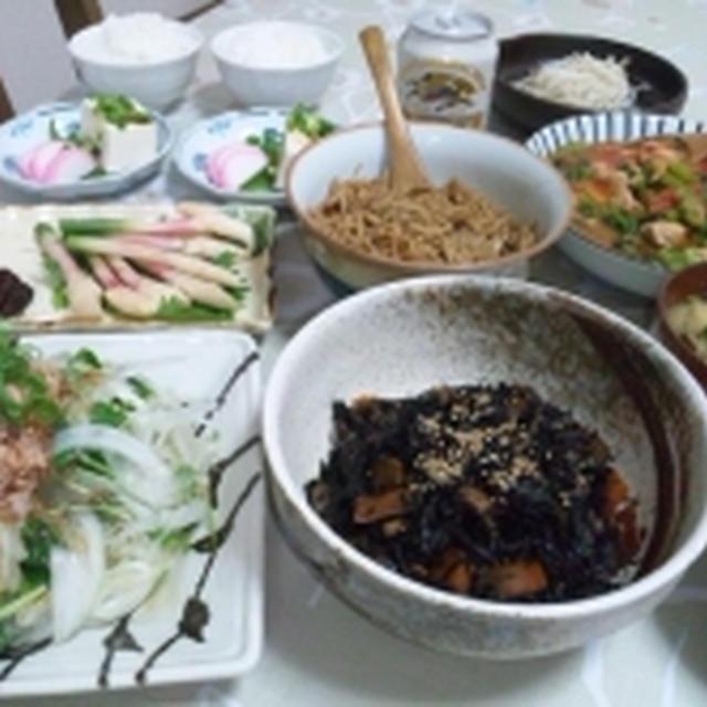 ひじき煮と、手作りなめ茸☆もやしの豆知識。