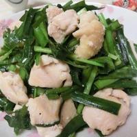 にんにく生姜でスタミナ♪ 鶏むねのニラまみれ炒め