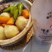 ヒガシマル牡蠣だし醤油で土鍋🍲肉じゃが