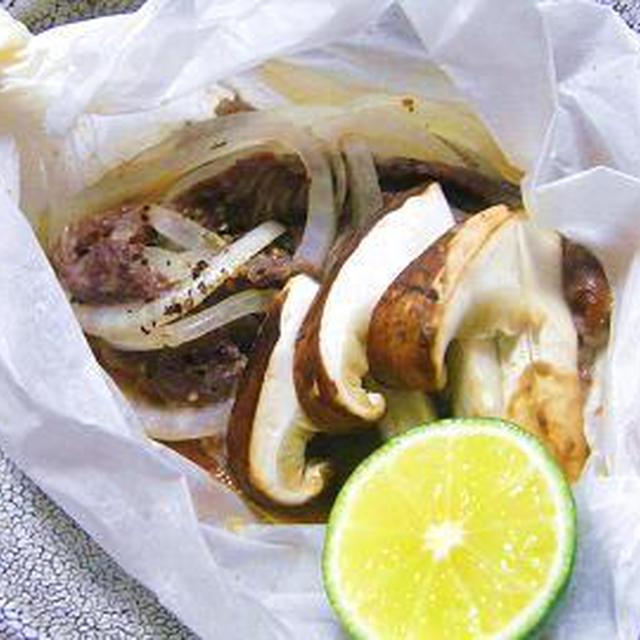 松茸と牛ロースの紙包み焼き
