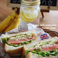 Caf'e風*サンドイッチでおうちカフェ( ´艸`)