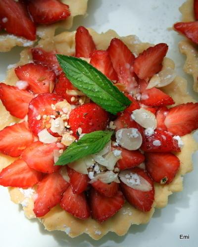上品な甘みの苺のタルトレット