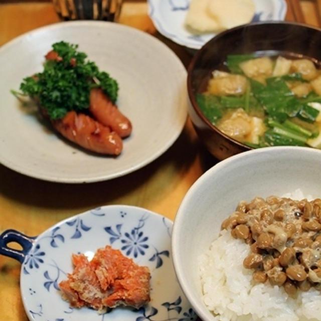 みぶ菜の味噌汁・朝餉