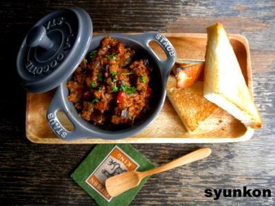【簡単!!作り置きレシピ】なすミート(なすとひき肉のトマト煮)