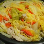 白菜と豚バラの洋風ミルフィーユ鍋