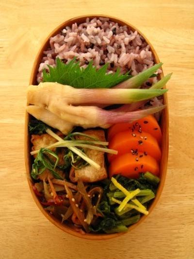 厚揚げと水菜の生姜炒め煮