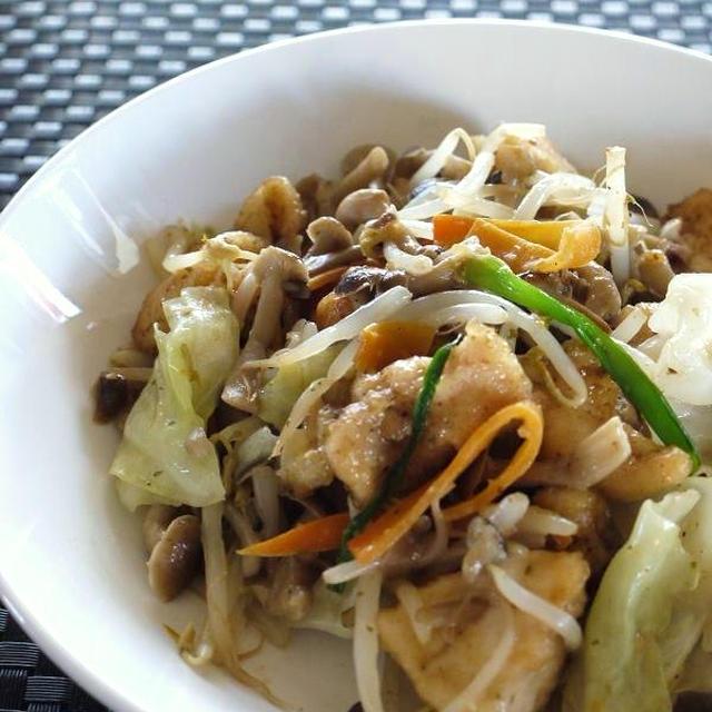 2013スパイス大使のお仕事<鶏唐揚げと野菜のぱらっと炒め>