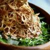 水菜とツナのサラスパ〜蓮根チップスのせ〜