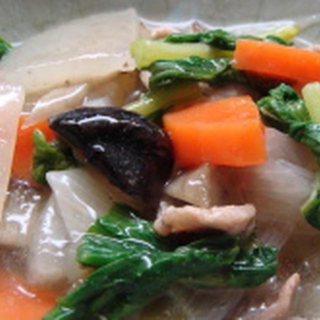 豚バラと根菜類の煮込みあんかけ