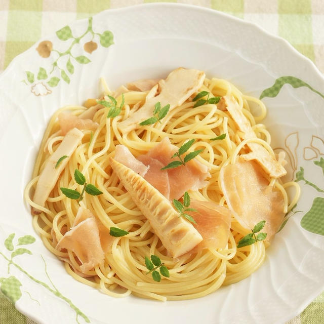 【お気に入りレシピ】タケノコと生ハムと木の芽のパスタ