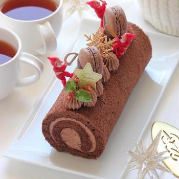 ブッシュドノエル & チョコレートケーキ ~ちょっと早いクリスマス気分♬