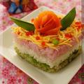 * ひな祭り ❤ ひし形 雛寿司♪