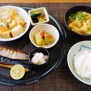 台風がダブルって!!高野豆腐と木耳の練り天ぷらの玉子とじ♪~♪