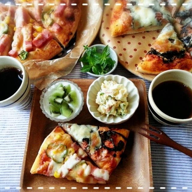 7時だよ!!全員集合~♡大好きピザで朝食女子会~開催中~♪(*^^*)