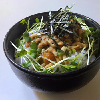 【栄養満点朝ごはん】薬味納豆ののっけごはん