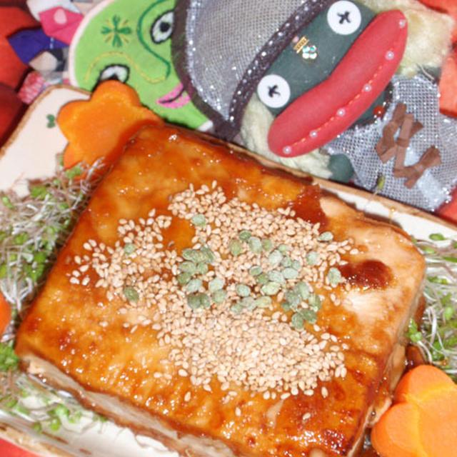 豆腐の蒲焼き風&豆もやしの桜えび炒め(お家カフェ)