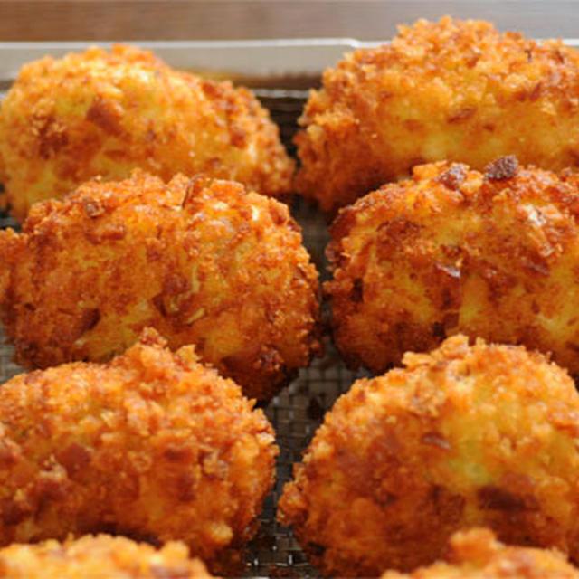 キャベツおから卵コロッケ(おからパウダーでコロッケ)