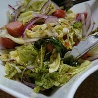 焼き春キャベツサラダ(レシピ)