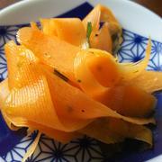 きのうのおつまみ  にんじんのレモンペパーサラダ